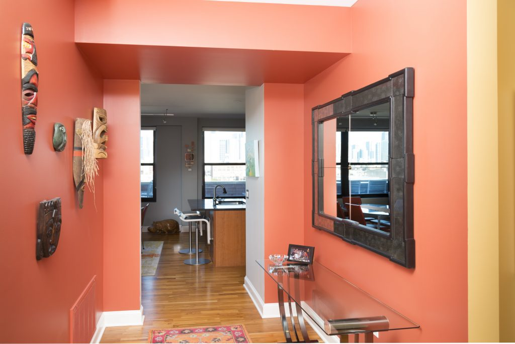 Painting, Interior Design, Color Consulting, Chicago, 2017, Paint The Town Red