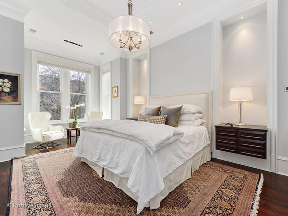 White modern bedroom interior design