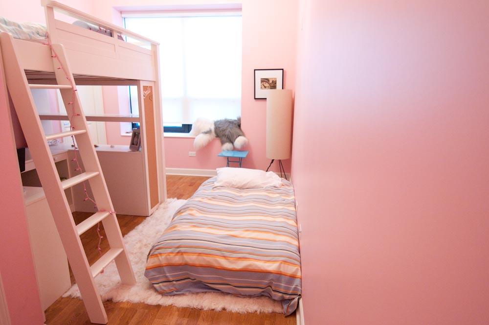 Pink children's bedroom