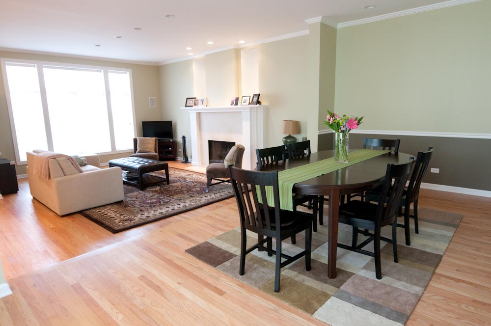 Wood flooring and living room design