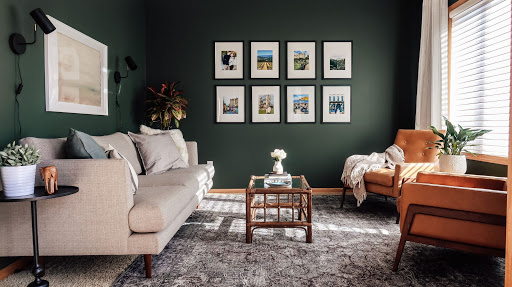 Final results from a paint color consultation and home decorating renovation